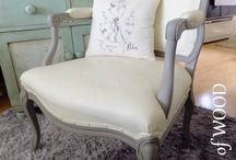 Chalk Painted Upholstery / by 4 the love of WOOD
