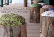 bancos de tronco