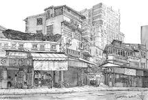 Guangzhou. China. Urban sketch