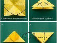 Origami / Papírhajtogatással készült