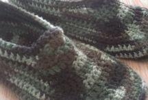Pantufas crochet