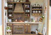 miniaturas escenas cocina / by Rosa Carrizosa DelaCruz