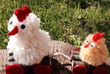 Pulcini di Pasqua fatti con Pon Pon di lana / Pulcini di Pasqua fatti con Pon Pon di lana  #mycandycountry #handmade #diy #easter #idea #creative #craft