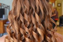 Waterfall braid and cute curls