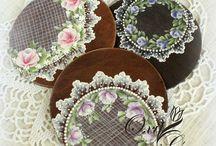 FALSO ENCAJE. / Imitaciones a encajes y  velos con pinturas, papeles etc.  Decoración con puntillas.    www.manualidadespinacam.com