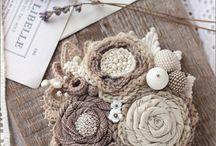 fiori di stoffa (spille e altre idee)