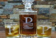 Personalized Bar ware / All you glassware needed with the special touch of etched personalization.