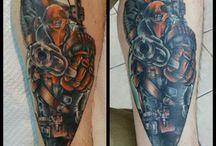comic book and cartoon tattoos / Comic book inspired tattoos I've done