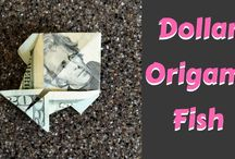 Money Origami $$ / Dollar origami Ideas, tutorials, how to and step by step instructions for folding money and dollars from mastery level to easy origami