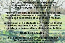 Plein Air Painting Workshops / Have you ever wanted to paint landscapes in oils en plein air?  Workshops for beginners this Summer.....