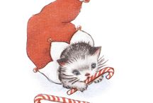 Christmas Vintage-Birds, Cats, Mice, & Misc. Animals / by Angela Palmer