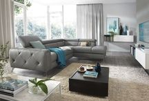 Modern Contemporary Genuine Leather Grey Sectionals