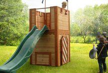 Casitas de juego / Casitas de madera para niños, pensadas para interior o exterior