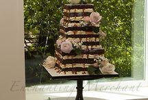 Naked wedding cakes @ The Enchanting Merchant Co / Naked wedding cakes