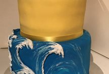 Waves and Roses cake