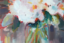 flowers - oil on canvas