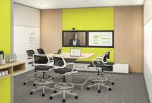 Steelcase Homebase / HomeBase supports residents with emerging mobile behaviors, offering users choice and control over their environment. An inspired space that supports today's emerging modes of work, workers can choose from settings that balance privacy with building team community.