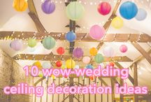 Ceilings / Ceiling inspiration for your wedding venue decorations