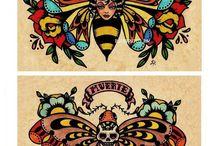Old school tatoos