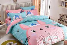 "bed sheets / Use coupon code ""cutekawaii"" for 10% off at https://www.sanrense.com/"