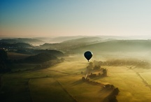 The Only Way To Travel Is Up / Looking up and seeing a hot air balloon in the sky makes everything charming and magical. / by Rebecca Ellsworth