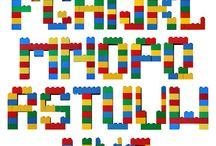 bokstäver med lego