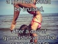 Gymnastics vs football / If gymnastics was easy they would call it football