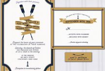 Marina Wedding / Marina wedding ideas boat wedding, yacht club wedding invitations navy and gold
