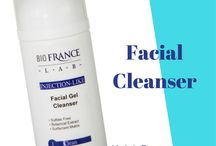 Facial Cleansers by Bio France Lab / Professional cleansers for estheticians.  facial cleansers made in France for Bio France Lab. Face wash