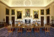 State Dining Room / Barry's changes to this room in the 1840's are the most radical anywhere on the State Floor at Harewood House, Yorkshire. The State Dining Room is a prime example of the new Victorian style that Harewood House experienced.
