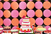 Festa laranja e rosa