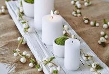candles and table decorations
