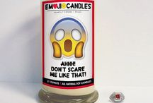 Emo-ji-onal mess! / Our new line of Emoji Candles! Show a little character (literally & figuratively!) & sass with your gifting this year!