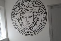 Just made wall art / Just cut this large 42inch vinyl art out looks great