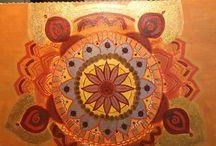 Mandala art. Metta mandala meditation