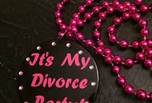 "Divorce Parties - ""I DON'T"" parties / One change that is common for midlife women is divorce.  While it can be a rough transition, sometimes it can be freeing and something to celebrate.  ""I don't"" parties are becoming a fun tradition to mark the occasion."