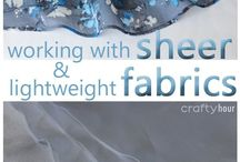 working with lightweight fabric