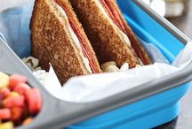 Bento, lunch box , sandwich & jar
