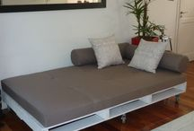 Einrichten und Wohnen Bett auf Paletten