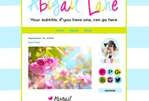 Pre-Made Blogger Templates / For $35 you can purchase a Blogger Template. Best part? You can mix 'n match and change colours. / by Barbara Leyne Designs