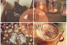 Golden Season | Autumn / What words come to mind when you think about autumn? ....golden, red, burgundy, purple, cozy, soft, warm light, candle, plaid, etc.
