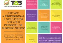 Easy And Flexible Collateral free business loan / TAB Capital provides  unsecured business and personal loans to a niche market of budding industries, with tailor-made solutions for satisfying their financial requirements.