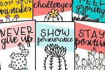Classroom deco ideas(posters/crafts)