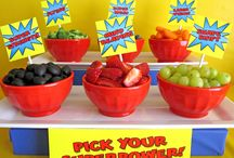 Superhero birthday party ideas / Mitchell's 3rd birthday party