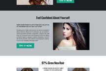 hair loss landing page design
