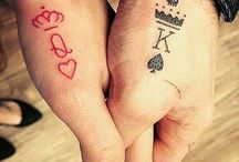 His & Hers Tiny Tattoos