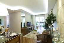 Tecnisa Viverde / O apartamento modelo decorado de 81m ², localizado na Freguesia do Ó em São Paulo, tem projeto de decoração da arquiteta Renata Cáfaro, todo voltado para os tons pastéis e bastante iluminado, dando a sensação de amplitude em todos os ambientes.