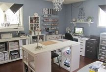 Beautiful scraprooms and craft storage ideas