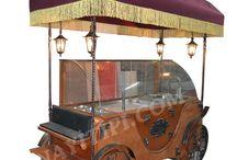 ahşap pilav arabası