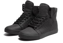 black sole sneakers only